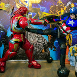 Аниматоры Капитан Америка и Железный человек